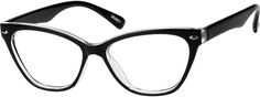 Order online, women black full rim acetate/plastic cat-eye eyeglass frames model #283621. Visit Zenni Optical today to browse our collection of glasses and sunglasses.