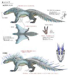 Monster Hunter: World Bestiary Day 2 – The Shocking Tobi-Kadachi - Game Inform. Monster Hunter Series, Monster Hunter Art, Monster Art, Monster Concept Art, Female Monster, Alien Creatures, Fantasy Creatures, Mythical Creatures, Creature Concept Art