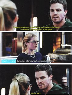 Arrow - Felicity & Oliver #2.10 #Season2 #Olicity Felicity stood up to Olly <3