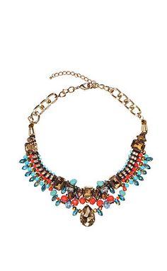 #Statement #Kette mit vielen bunten #Perlen und #Strass #necklace - http://www.studio-untold.com/?campaign=sm/pinterest