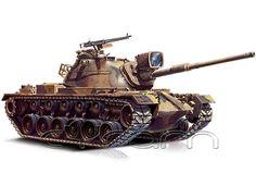 Modellbausatz von ESCI / ERTL, des US-amerikanischen Kampfpanzer M48 Patton A5 (M48A5), im Maßstab 1:72.   (http://www.cyram-entertainment.de/shop/products/Modellbau/Militaer/Fahrzeuge/US-Kampfpanzer-M48-A5.html) #panzer #kampfpanzer #m48a5 #patton #m48patton #modell