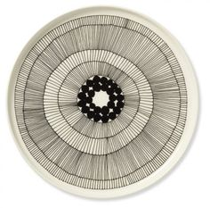 Black and white Marimekko dinner plate