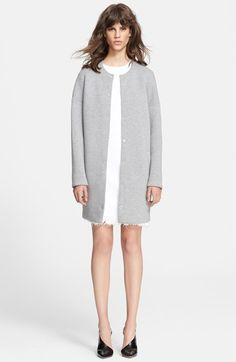 T by Alexander Wang Oversized Neoprene Coat available at #Nordstrom drop sholder