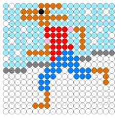 Kralenplank: Kikker in de kou (haas)