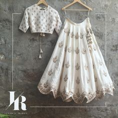 Loving the magnificent white lehenga with fine gold embellishments.   jayantireddy  jayantireddylabel  hyderabad  hyderabaddesigner  designerlabel 26 March 2016