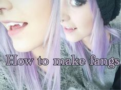 How to make your own fangs with friendly plastic tutorial | Krispuuh - YouTube