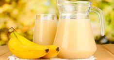 Banana juice is a sweet and creamy combination of ripe banana. Read here health benefits of bananas, banana juice recipes, banana nutrition and more. Healthy Food Habits, Get Healthy, Healthy Tips, Healthy Lifestyle, Banana Nutrition, Banana Health Benefits, Banana Juice Recipe, Juice Fast Recipes, Healthy Recepies