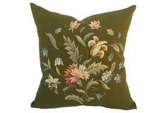 Liberty's Botanical Embroidered Pillow