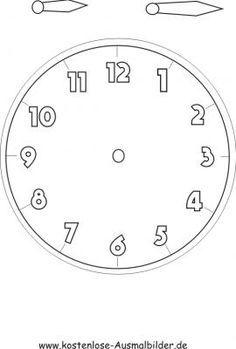 Uhr Vorlage zum basteln