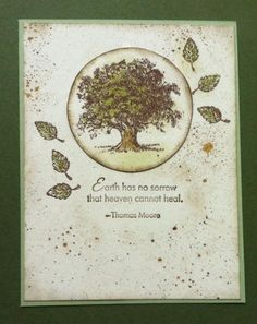 Lovely as a Tree sympathy card by Jane