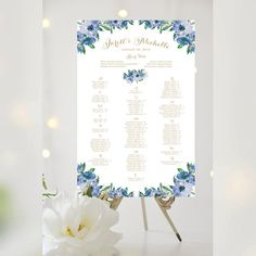 Wedding Seating Chart Alphabetical Various by CharmingEndeavours