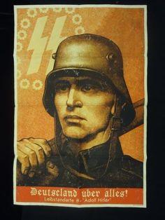 """1st SS PANZER ABTEILUNG LEIBSTANDARTE ADOLF HITLER """"propaganda poster"""
