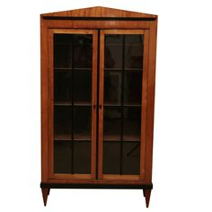 Biedermeier Cabinet | From a unique collection of antique and modern vitrines at https://www.1stdibs.com/furniture/storage-case-pieces/vitrines/