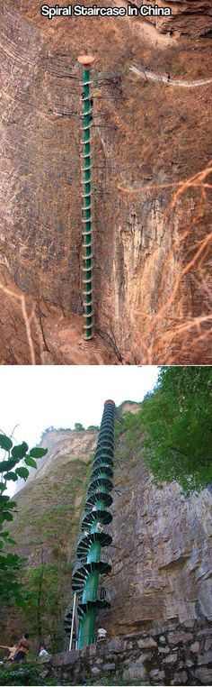 Spiral Staircase in Taihang Mountains, China.