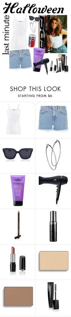 """""""Cindy Crawford Pepsi Commercial"""" by makita-banana on Polyvore featuring Vince, M.i.h Jeans, Christian Dior, Mystic Light, T3, Mary Kay, Halloween and halloweencostume"""