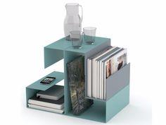 Powder coated steel coffee table / magazine rack BIG EL by KONSTANTIN SLAWINSKI design Knut Völzke