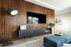 The unique Endurapanel panelling system gives the appearance of a traditional slat wall or ceiling.
