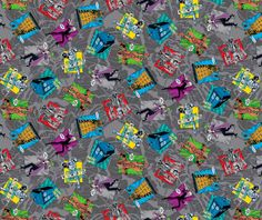"""Cotton Jigsaw Puzzle /""""Autism Awareness/"""" Cotton Fabric Print by the Yard D682.13"""