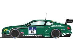 The Scalextric Bentley Continental GT3 - Nurburgring 24hr 2015 is a slot car from the Scalextric Road and Rally car range.