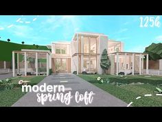 Bloxburg: Modern Spring Loft | Speed Build - YouTube Two Story House Design, Tiny House Layout, House Layout Plans, Unique House Design, House Layouts, Modern Family House, Family House Plans, Family Houses, Tiny House Bedroom