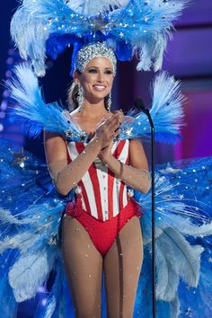 What did you think of Miss USA's national costume ? #missusa #missuniverse  #prelims #tiaraobsessions