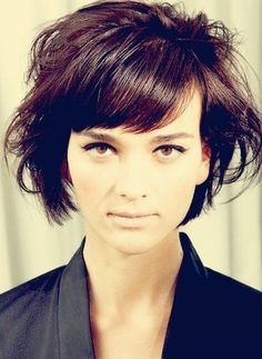 Messy Short Hairstyles for Side Bangs