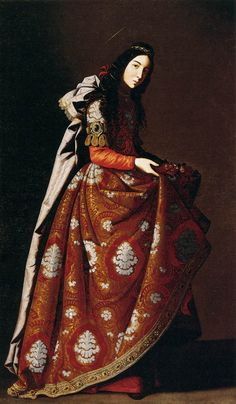 ZURBARÁN, Francisco de  (b. 1598, Fuente de Cantos, d. 1664, Madrid)	  St Casilda  c. 1630  Oil on canvas, 171 x 107 cm  Museo Thyssen-Bornemisza, Madrid