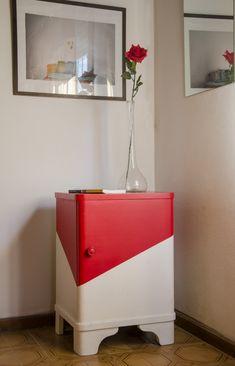 mesa de luz roja - Mesas - Muebles Artesanales - 612679
