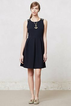 Ponte Skater Dress #anthropologie  a great workhorse for your dressy, work, cocktail wardrobe.  different shoes and jewerely