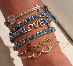 Blue Crush #Stack now available...  Visit www.NYmodernStyle.com for all your accessory armcandy jewelry needs!!!!!