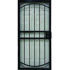 Larson Matrix Black Steel Security Door Common 36 In X