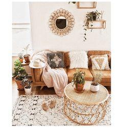 Boho Living Room, Living Room Interior, Bohemian Living, Bohemian Homes, Cozy Living, Modern Bohemian, Tan Sofa Living Room Ideas, Bohemian Design, Bohemian Apartment