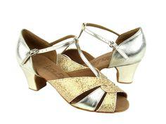 1643 Brown Nubuck Embroide Swing Ballroom Latin Dance Shoes low heel 2 Size 8