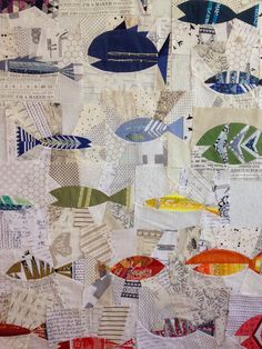 {no} hats in the house: folksy fish {new patterns!}- For the more adventurous Boy Quilts, Scrappy Quilts, Mens Quilts, House Quilts, Fish Patterns, Quilt Patterns, Quilting Projects, Quilting Designs, Quilting Ideas
