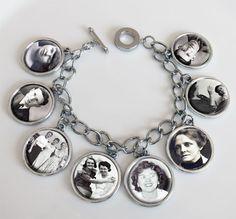 Dangling 8 Frame Photo Charm Bracelet Kit Double Sided - Photo Jewelry Making