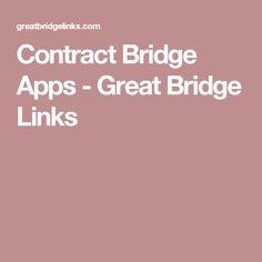 Contract Bridge Apps - Great Bridge Links