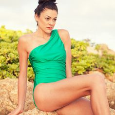 Jewel Tone! Albion Fit Icon Swimsuit in Emerald Green