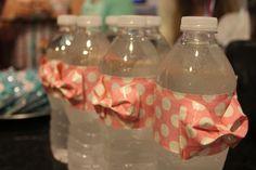 Duck tape bows on water bottles! So freaking cute!!!