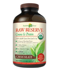 Chocolate Raw Reserve Protein Supplement by Amazing Grass #zulily #zulilyfinds