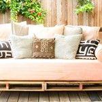 Rustique canap d angle construite avec des palettes - Construire un canape avec des palettes ...
