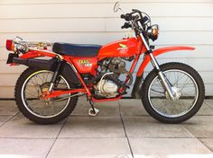 """1977 Honda CT125  Designed  by Honda for Australian sheep farmers. Sold in N. America for only one year (1977). The same year Honda introduced their three-wheeled ATV known as the""""ATC"""". The Honda ATC sold well, while the CT125 languished in motorcycle showrooms. Honda discontinued selling it in N.A..  The CT125 had a trials engine instead of the  XL engine. This engine had lower gear ratios allowing the rider very slow speeds with lots of torque - ideal for back country travel. Owned this…"""