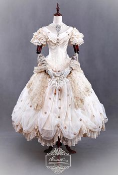 Classical Puppets [-♛-Elizabeth-♛-] Luxurious Lolita OP Dress (Price: About 6,000 US Dollars)