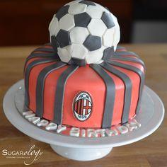 AC Milan Football Cake