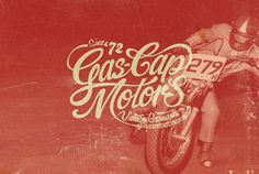 Gas Cap Motor's Branding on Behance Typography Love, Vintage Typography, Typography Letters, Graphic Design Typography, Lettering Design, Hand Lettering, Vintage Graphic Design, Graphic Design Projects, Graphic Design Inspiration