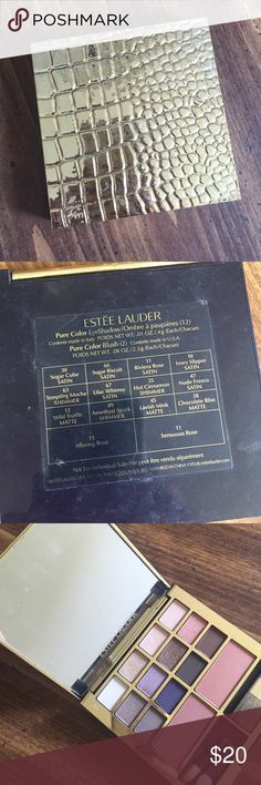 Estée Lauder eye shadow and blush compact Estée Lauder eye shadow and blush compact, gently used a few of the eye shadows. All brushes are available. Estee Lauder Makeup Eyeshadow