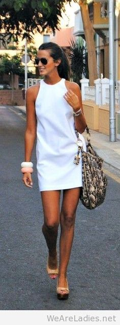 Little white dress and accessories
