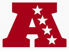 This is the logo representing the American Football Conference. The AFC is the remnant of  the old American Football League which merged with the NFL in 1970. The Conference is now home to three old NFL teams; The Cleveland Browns, The Pittsburgh Steelers and the Indianapolis Colts (Formerly from Baltimore).