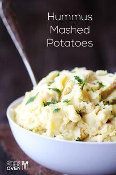 Hummus Mashed Potatoes food-my-friends-can-eat-dairy-free-vegan-gluten-fr Vegetarian Recipes, Cooking Recipes, Healthy Recipes, Vegan Vegetarian, Vegan Hummus, Hummus Recipe, I Love Food, Good Food, Yummy Food