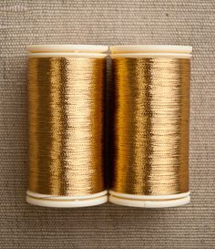 metallic sewing thread (sajou) from purlsoho Sewing Machine Projects, Gold Aesthetic, Purl Soho, Gold Work, Edge Stitch, Craft Night, Metallic Thread, Sewing Crafts, Versace Wallpaper