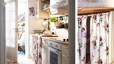 Kitchen from Ikea for small space Cozy Kitchen, Ikea Kitchen, Kitchen Decor, Country Kitchen, Kitchen Ideas, Above Cabinets, Home Trends, Deco Design, Cuisines Design